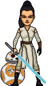 Rey (Kenobi?) Skywalker and BB8 by HNutz