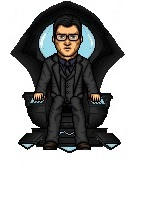 Clark Kent on Metron's Chair