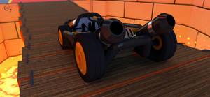 Bowser Kart  rear