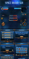 Space Mobile GUI by KodiakGraphics