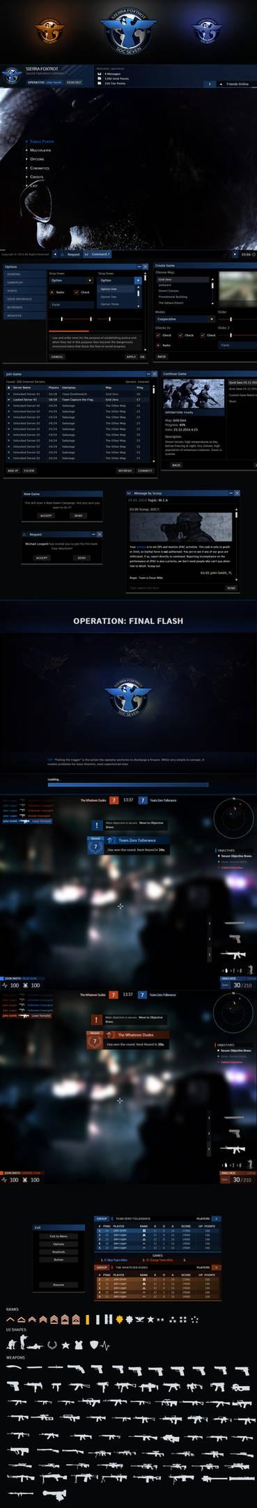 Sierra Foxtrot FPS GUI