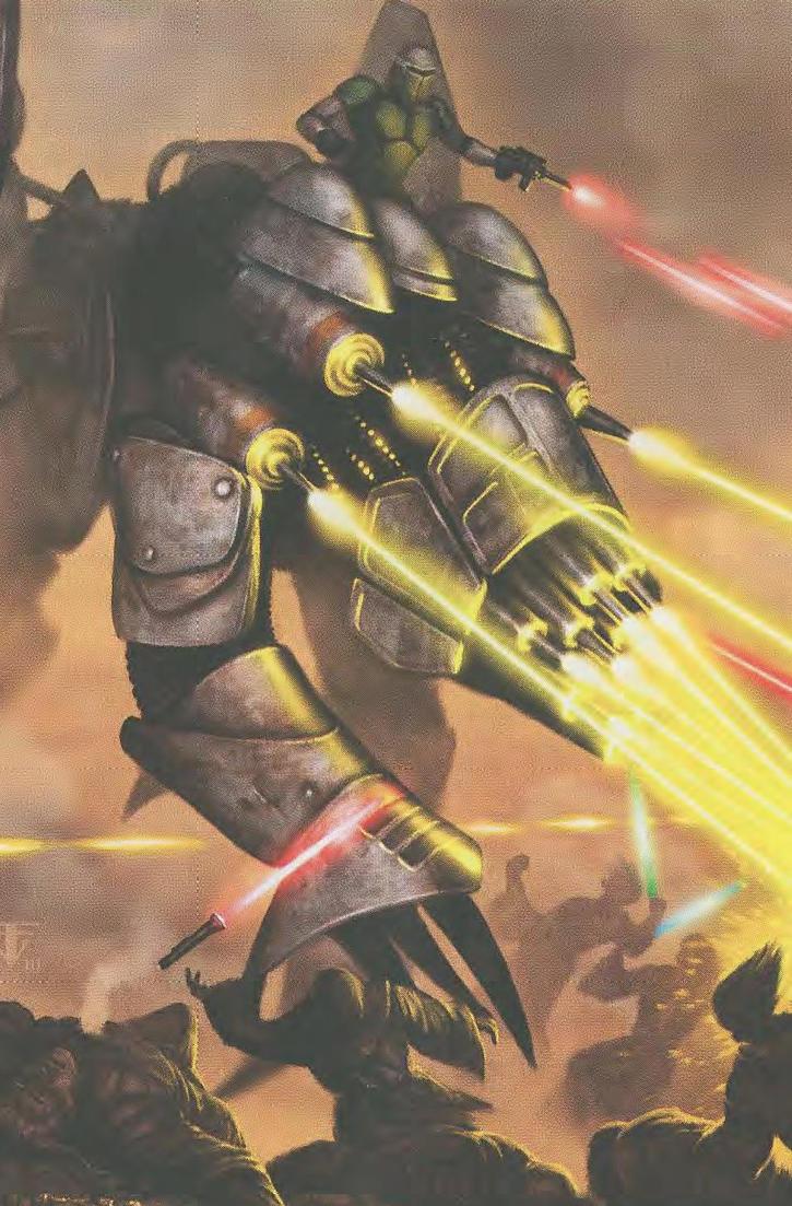 Basilisk War Droid vs. Jedi by Weasel102