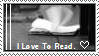 I Love to Read Stamp by scarredbutnotbroken