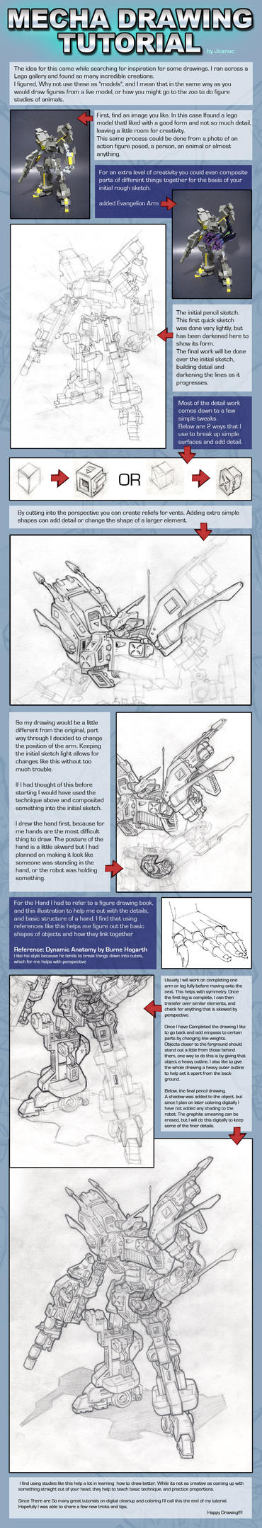 Mecha Drawing Tutorial by jcanuc