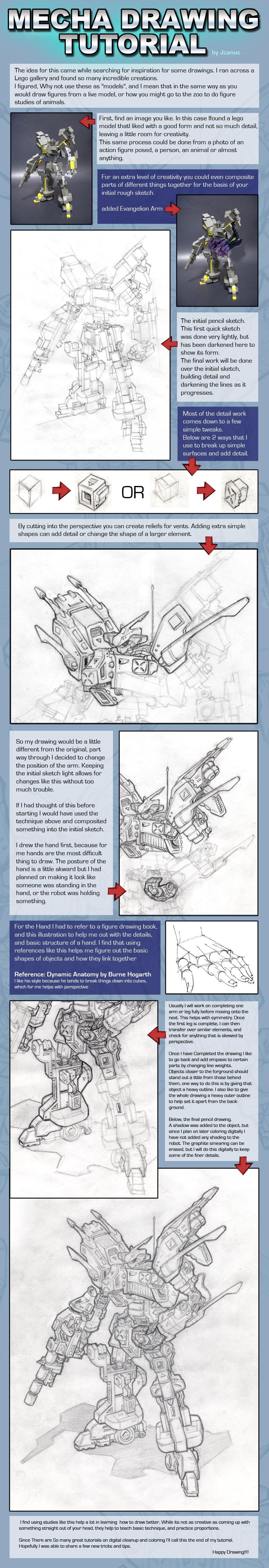 Mecha Drawing Tutorial by jcanuc