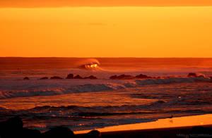 sun in a wave