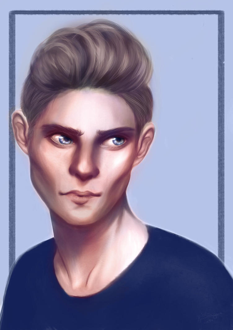Portrait #2  - Guy - Speed Painting by Elrondriel