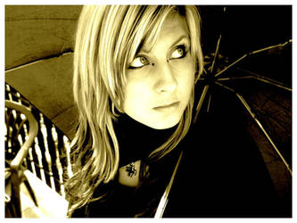 Me,..with umbrella .. by sweet-death17