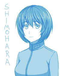 Shimohara doodle by Azulnieve-pro