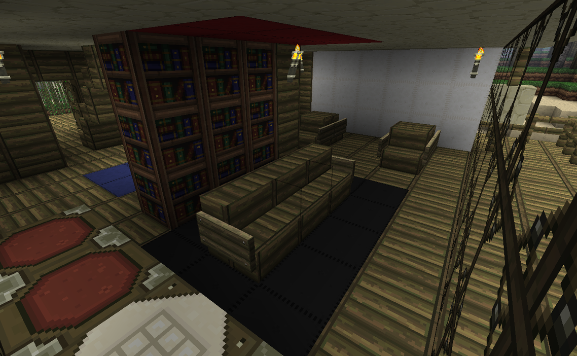 Sunset point living room by kyidyl minecraft on deviantart for A living room in minecraft