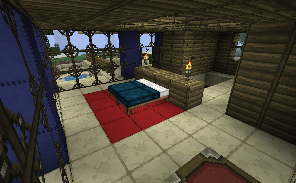 Sunset point bedroom by kyidyl minecraft on deviantart for Bedroom ideas in minecraft