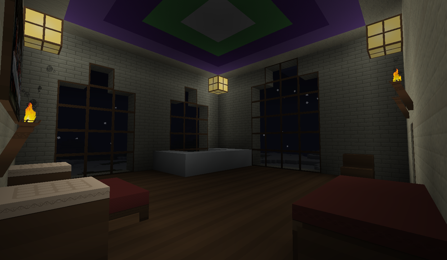 Guest room by kyidyl minecraft on deviantart for Nice bedroom designs minecraft