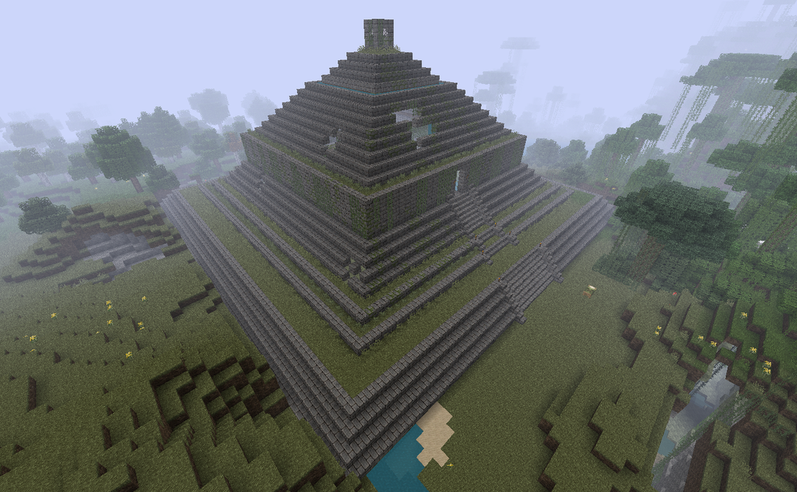 how to build a pyramid in minecraft