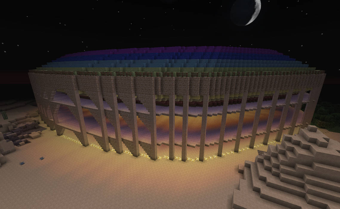 Rainbow Colosseum Outside by kyidyl-minecraft on DeviantArt