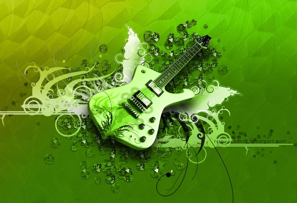 winged guitar by iceSkar