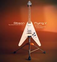 Gibson Flying V Guitar by iceSkar