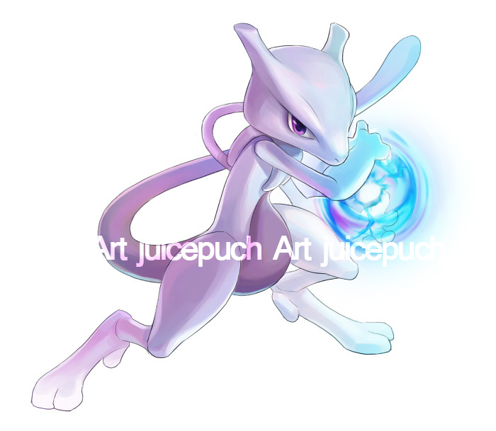 Mewtwo Commission by J00se