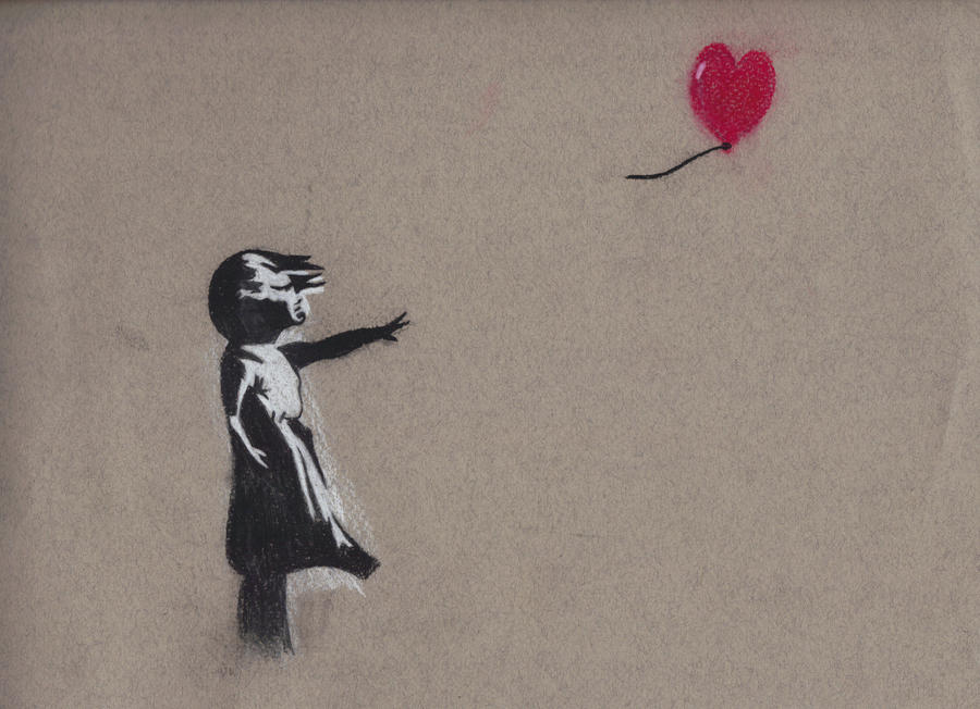 banksy girl with balloon by savagetoon on deviantart. Black Bedroom Furniture Sets. Home Design Ideas