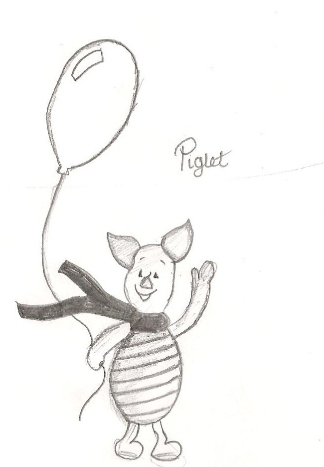 Piglet and Balloon