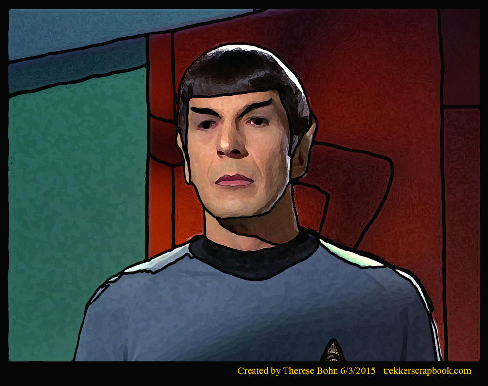 'Stained Glass' Spock-Whom Gods Destroy by Therese-B