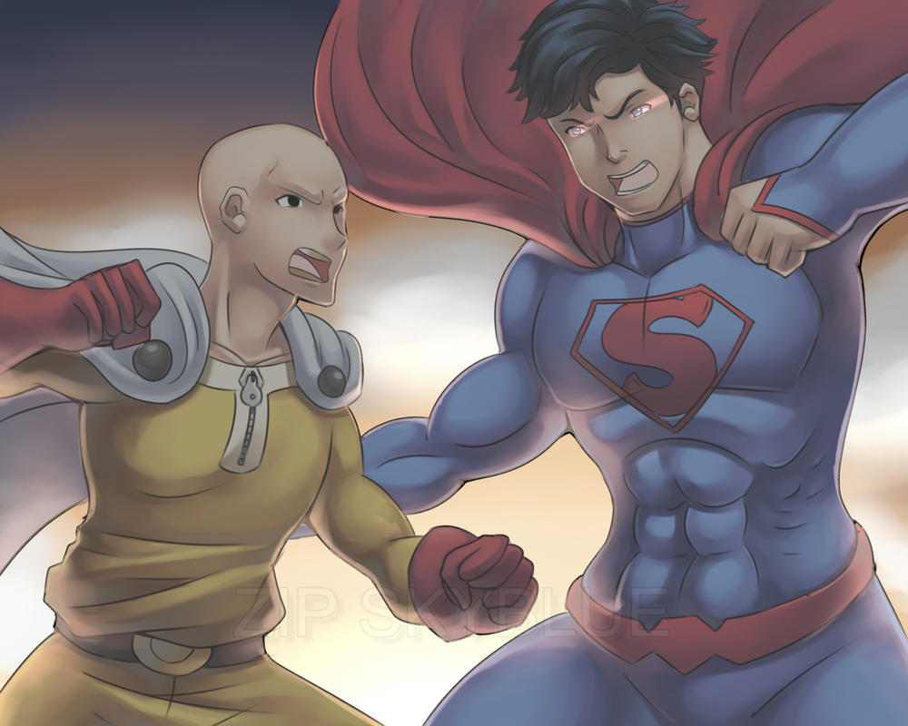 SUPER MAN VS ONE PUNCH By Zipskyblue