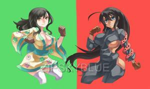COMMISH:ASUKA AND HOMURA