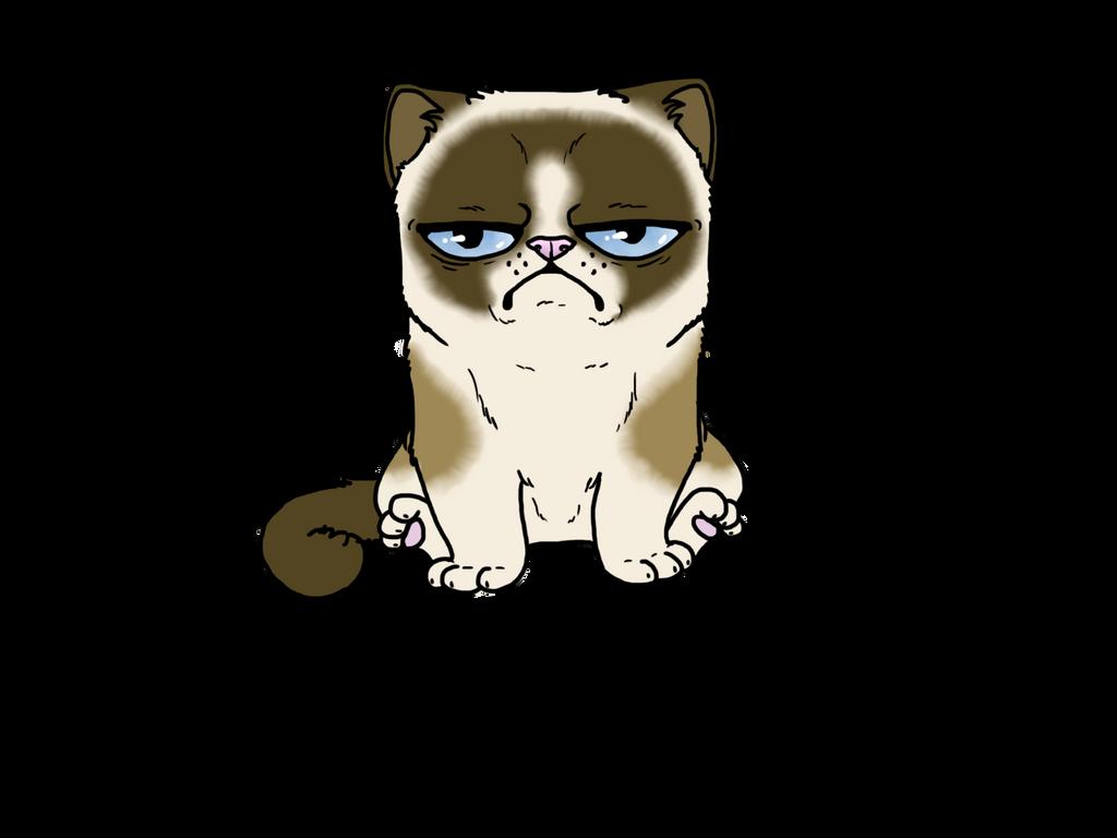 Grumpy Cat-Coloured by FudgeTheDog on DeviantArt