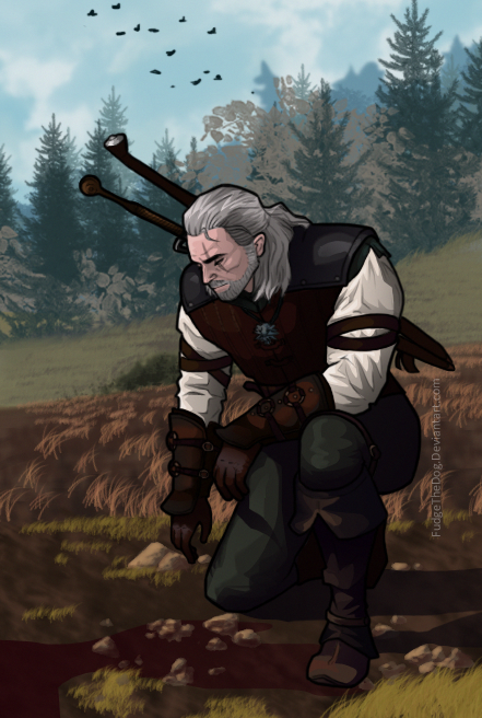 Geralt- Witcher by FudgeTheDog