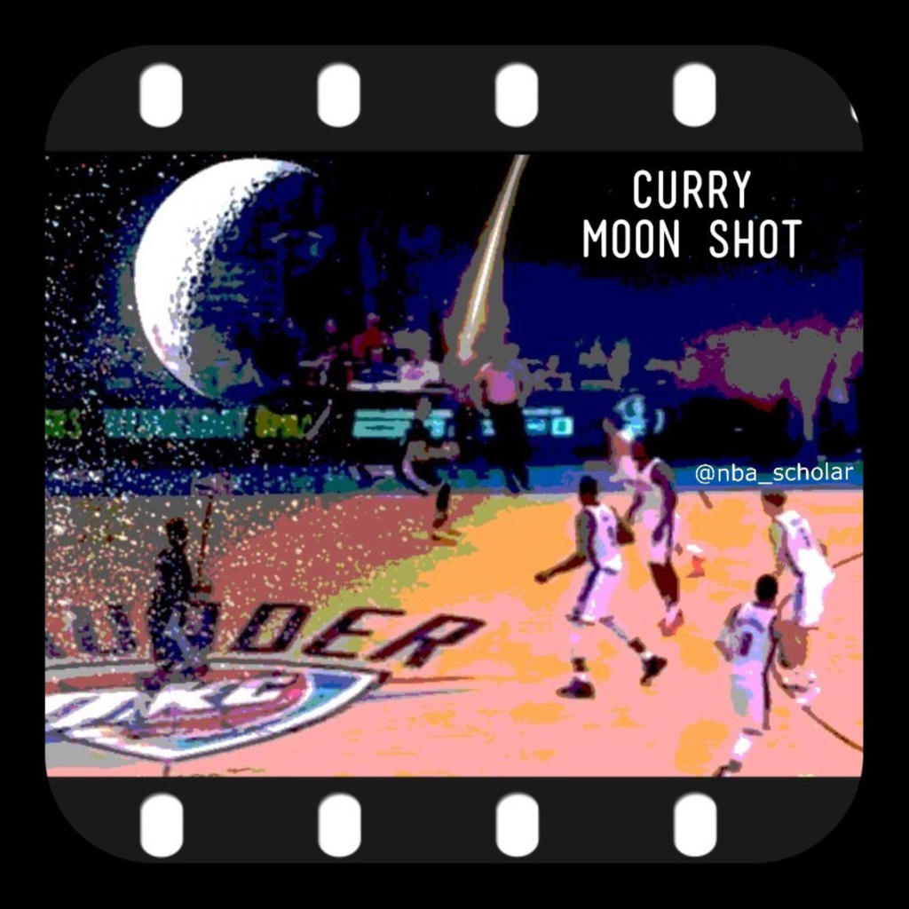 Curry moon shot - buzzer beater vs OKC
