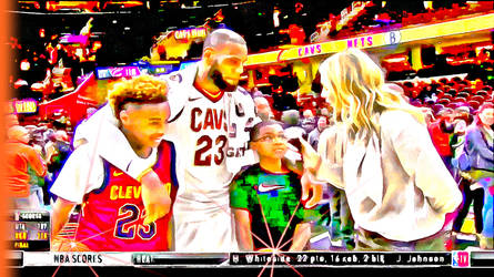 LeBron James TV interview with his kids