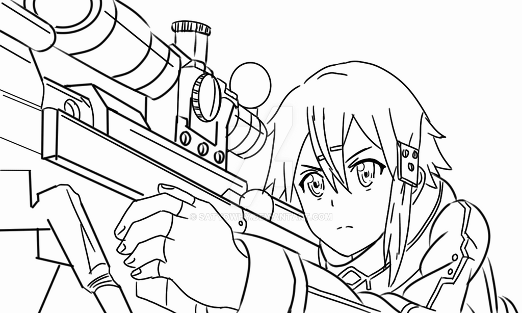 Sin on sword art online coloring pages