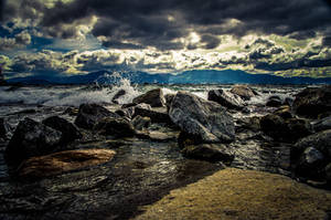 Stormy Day in Tahoe by StephGabler
