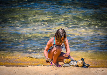 A Day at the Beach by StephGabler