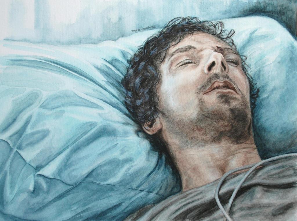 Sleeping Sherlock in Hospital