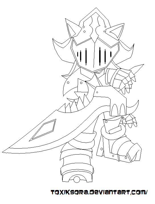 Shadow Knight Lineart By Frandlle
