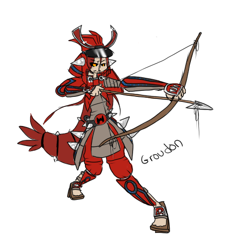 Groudon Gijinka Groudon gijinka by frandlle