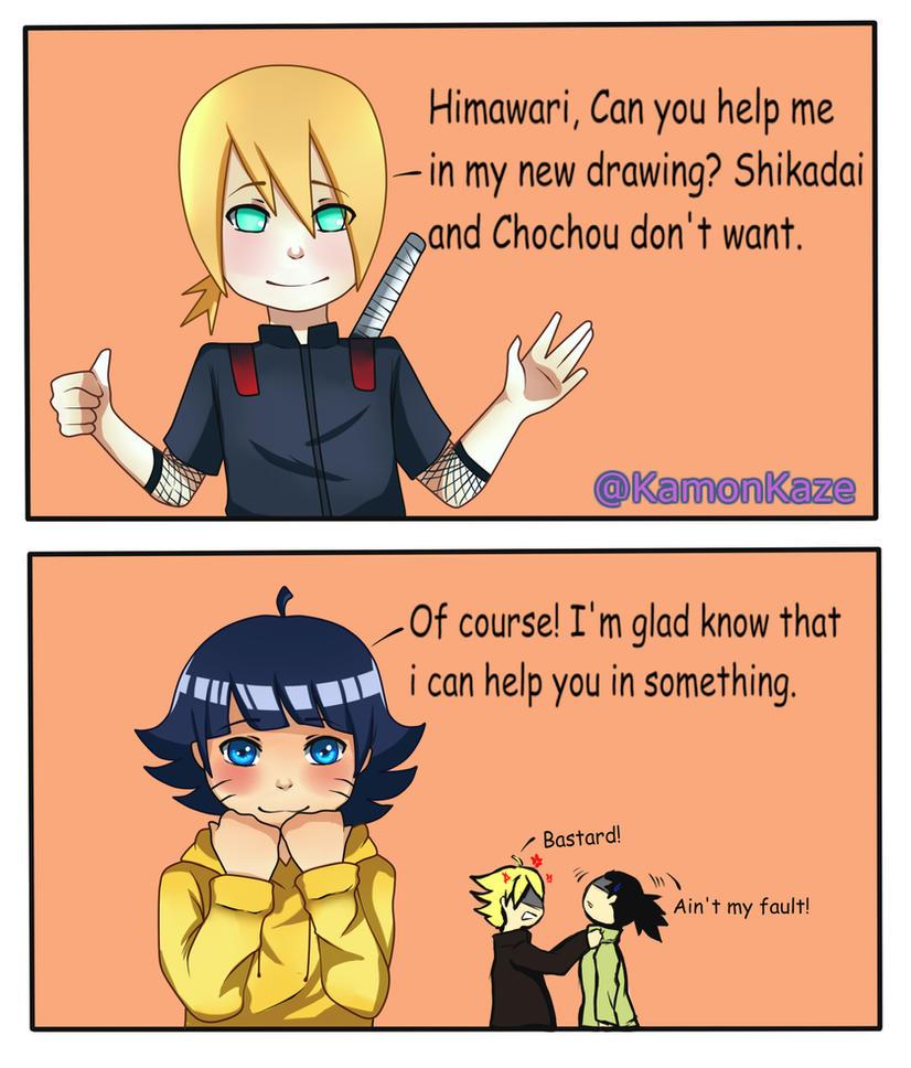 Help [Boruto: Inojin and Himawari] by KamonKaze