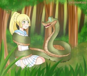Lillile hypnotized for Kaa by KamonKaze