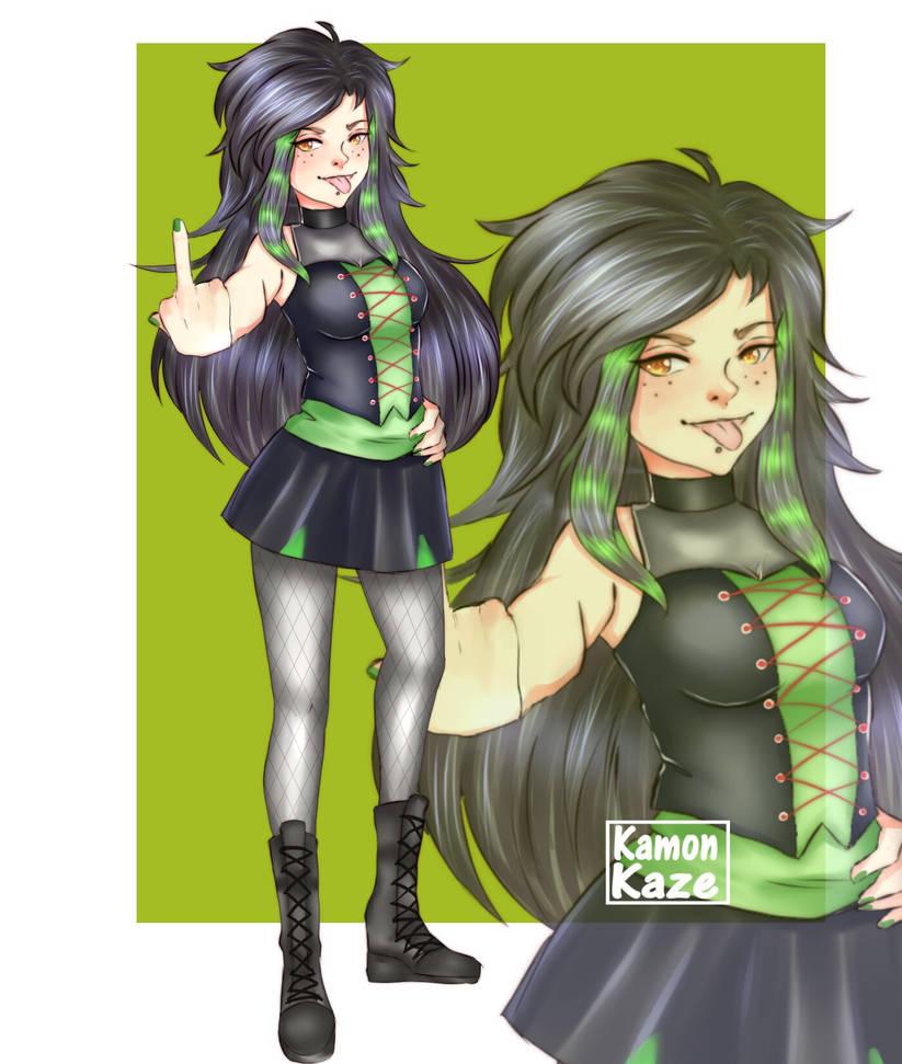 Comission Girl  by KamonKaze