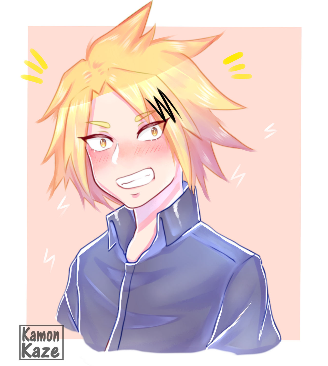 Denki Kaminari Headshot By Kamonkaze On Deviantart