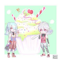Chibi Hiroto and Kazemaru