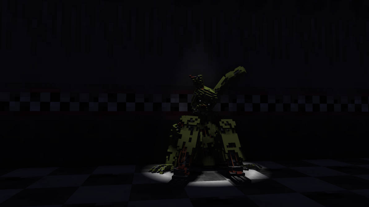 Springtrap laying down by HerobrineGM