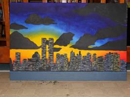 city sunset by bigjbway23