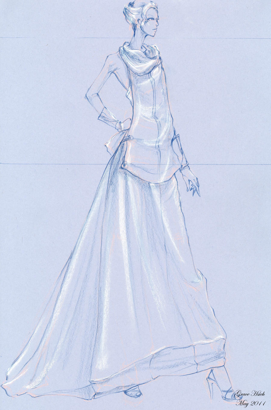 Model dress drawing images galleries - Modele dressing ...