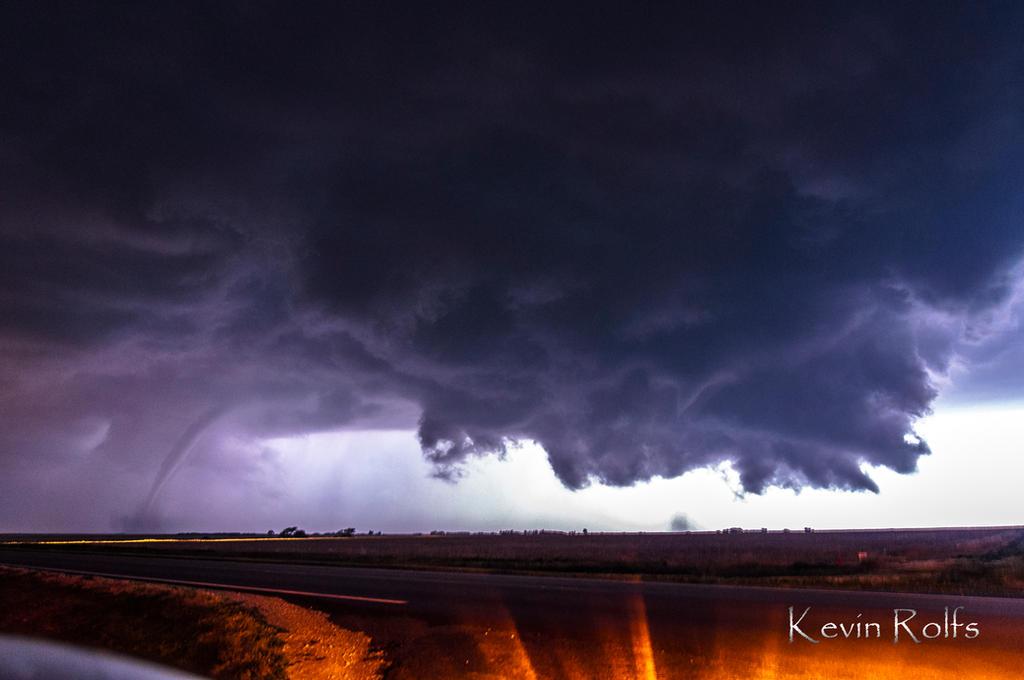 La Crosse, Kansas Two Tornadoes by Bvilleweatherman