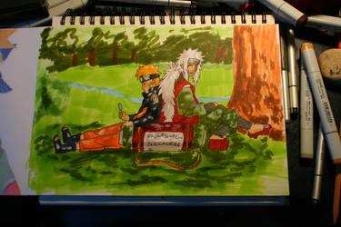 Naruto and Jiraiya by Septdeneuf