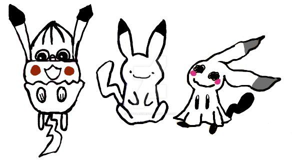 Pika and the Chu's by woot4anime64