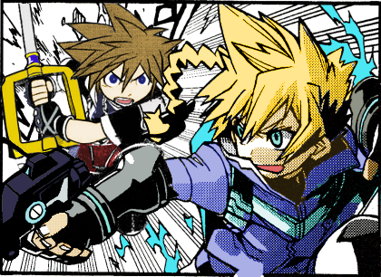 Gunvolt vs Sora by Superpichu9000