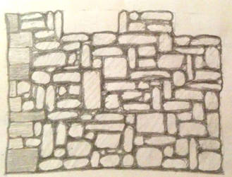 Medieval Wall Sketch Side View by Mikister99