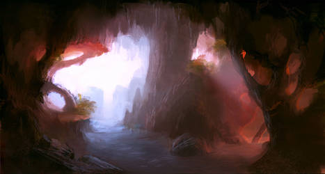 Mystic cave by vennom07